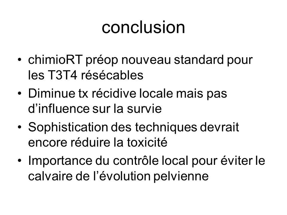 conclusion chimioRT préop nouveau standard pour les T3T4 résécables