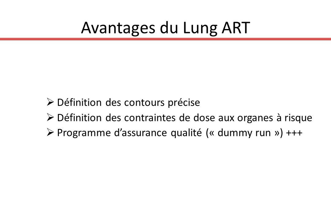 Avantages du Lung ART Définition des contours précise