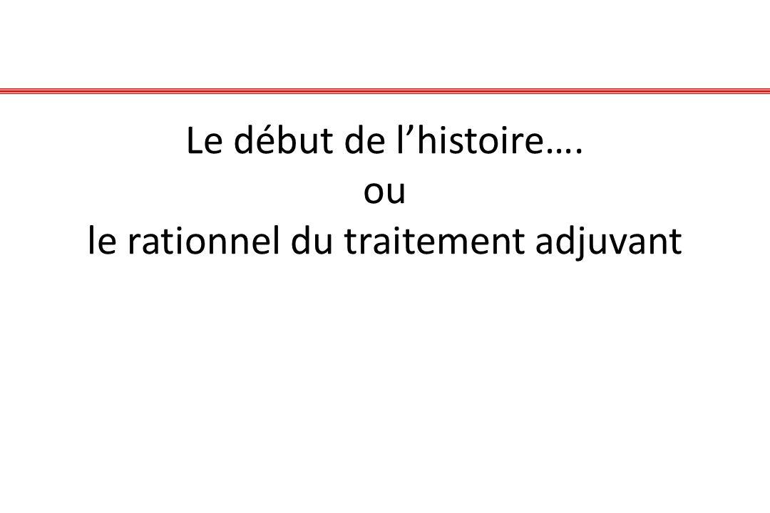 Le début de l'histoire…. ou le rationnel du traitement adjuvant