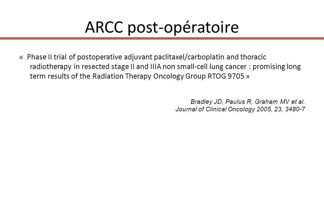 ARCC post-opératoire