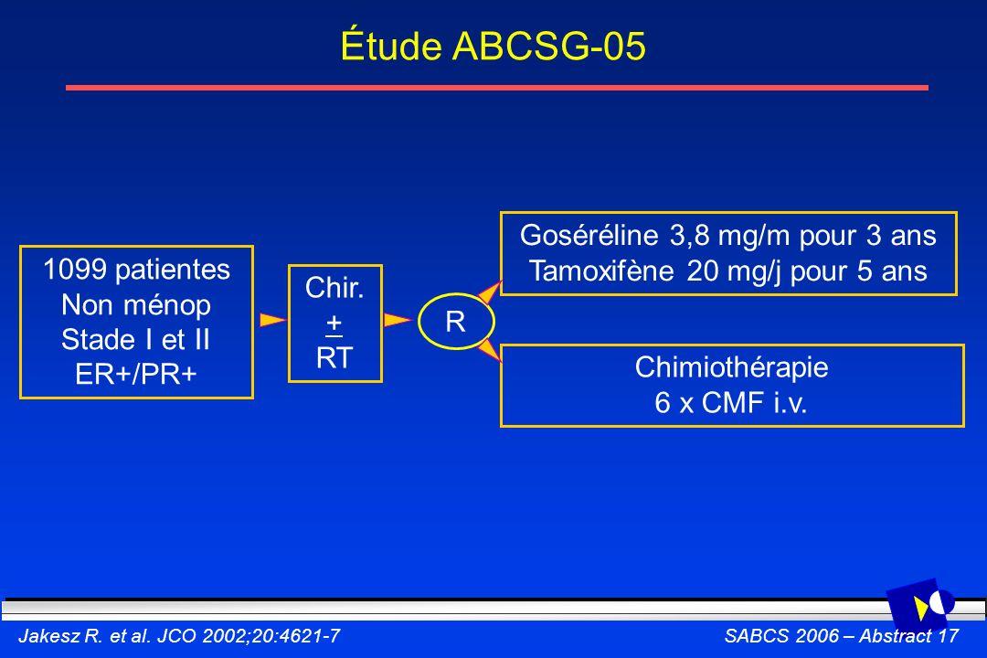 Étude ABCSG-05 Goséréline 3,8 mg/m pour 3 ans