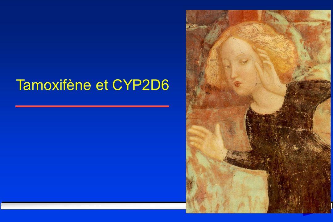 Tamoxifène et CYP2D6