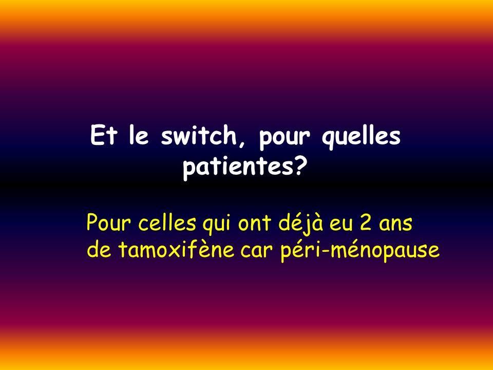 Et le switch, pour quelles patientes