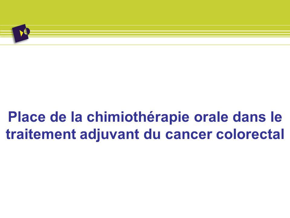 Place de la chimiothérapie orale dans le traitement adjuvant du cancer colorectal