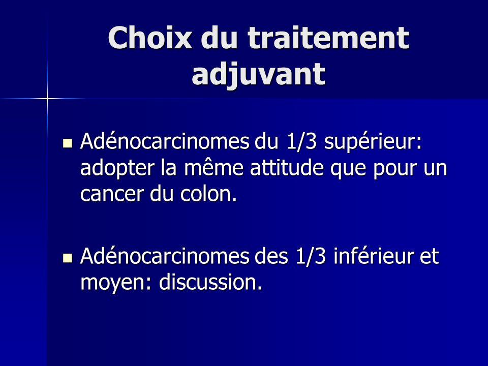 Choix du traitement adjuvant