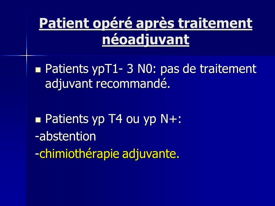Patient opéré après traitement néoadjuvant