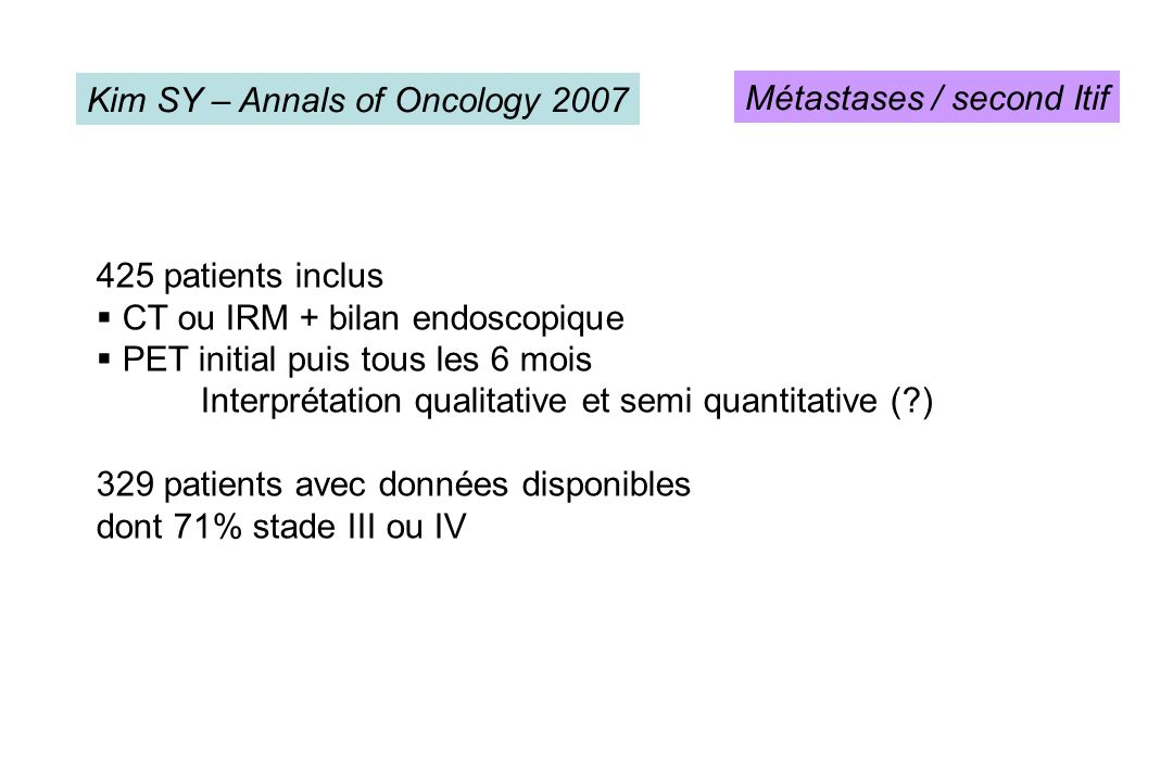 Kim SY – Annals of Oncology 2007