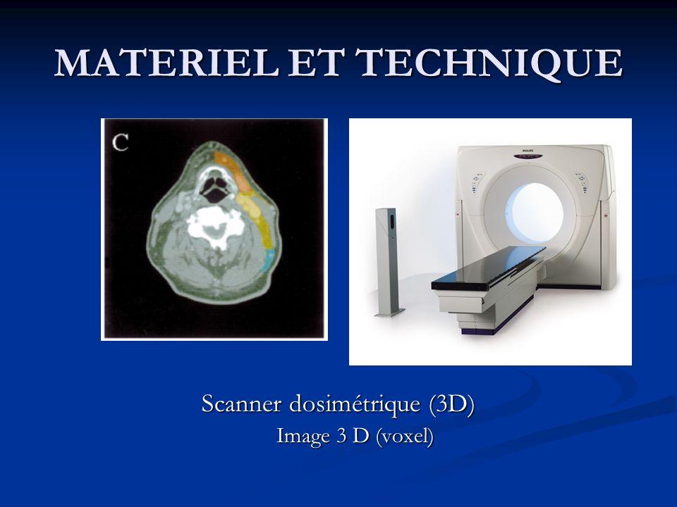 Scanner dosimétrique (3D)