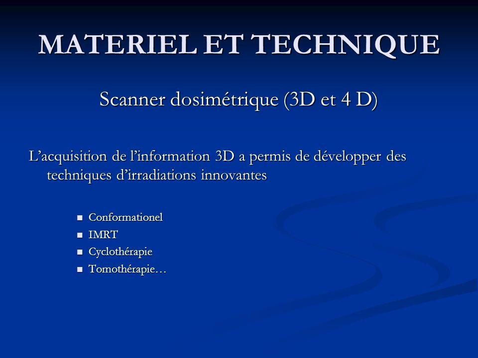 Scanner dosimétrique (3D et 4 D)