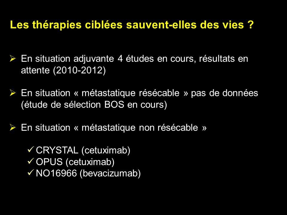 Les thérapies ciblées sauvent-elles des vies