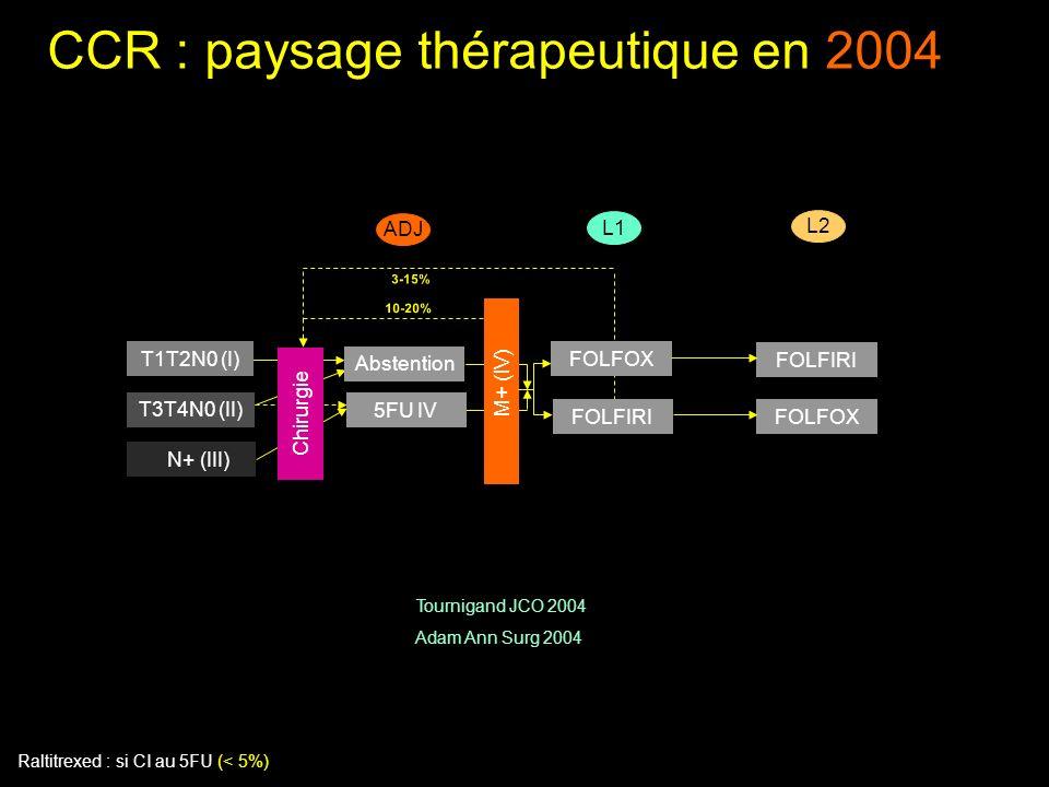 CCR : paysage thérapeutique en 2004