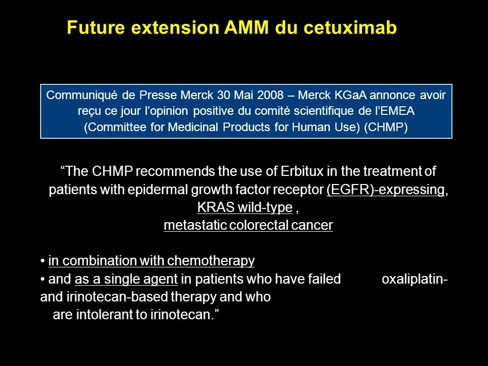 Future extension AMM du cetuximab