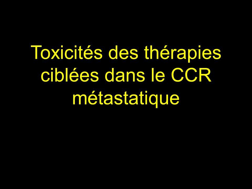 Toxicités des thérapies ciblées dans le CCR métastatique