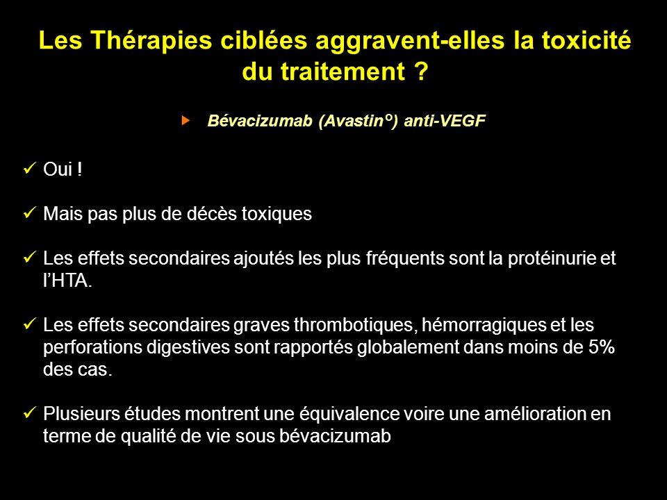 Les Thérapies ciblées aggravent-elles la toxicité du traitement
