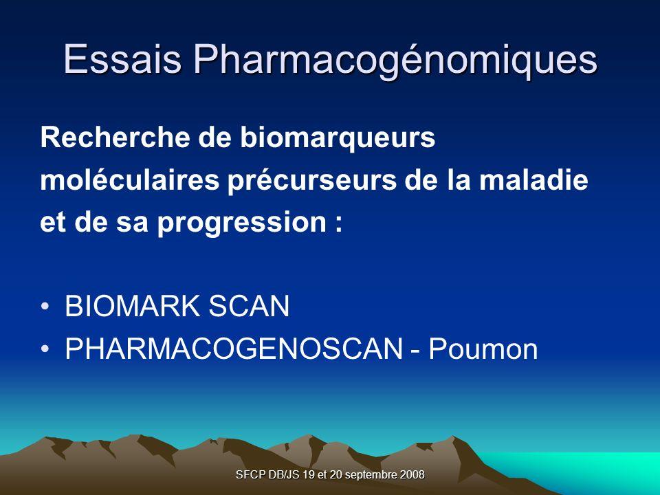 Essais Pharmacogénomiques