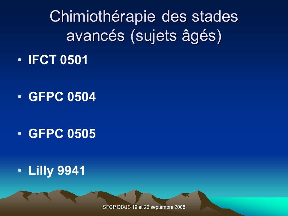 Chimiothérapie des stades avancés (sujets âgés)