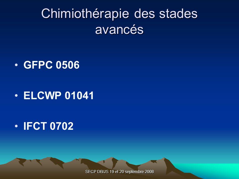 Chimiothérapie des stades avancés