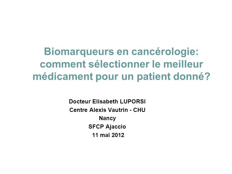 Docteur Elisabeth LUPORSI Centre Alexis Vautrin - CHU