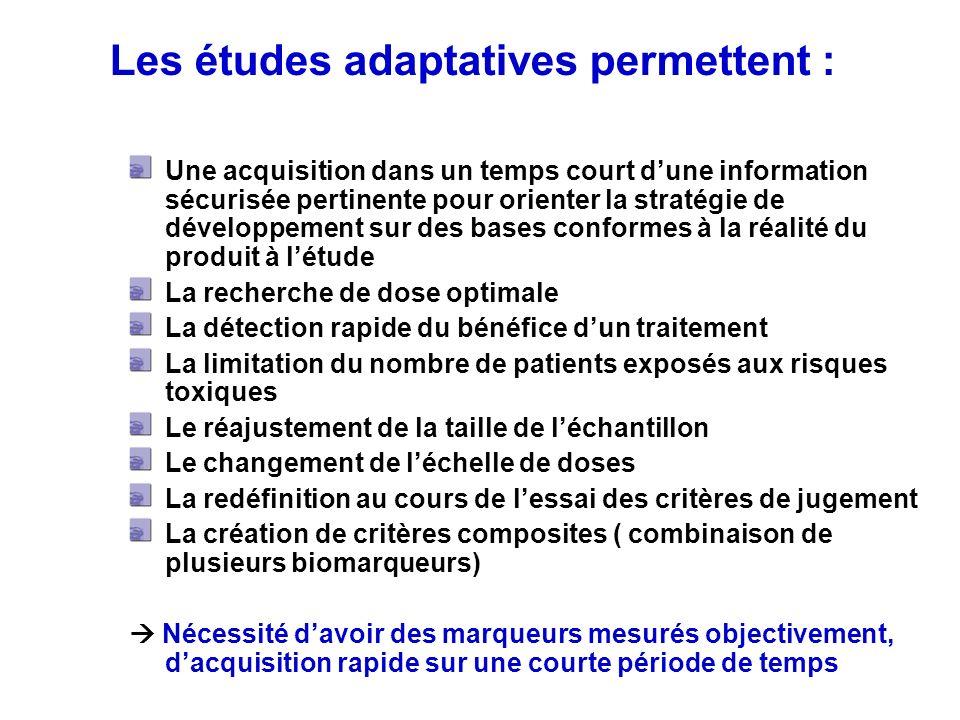 Les études adaptatives permettent :