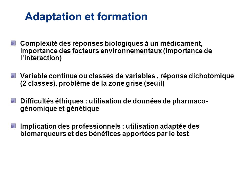 Adaptation et formation