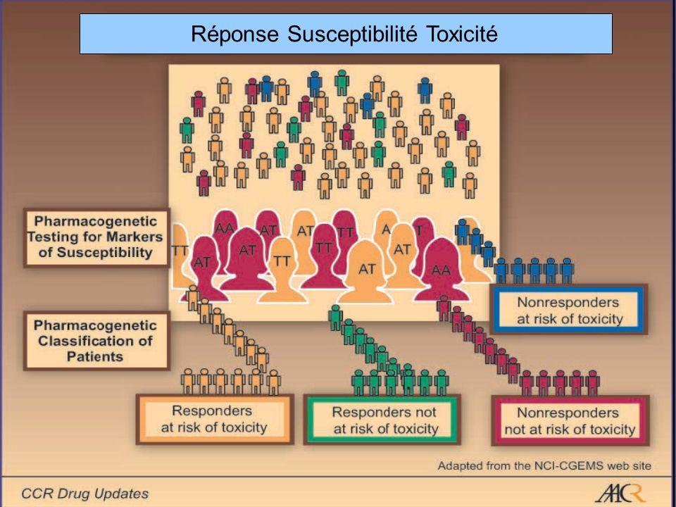 Réponse Susceptibilité Toxicité