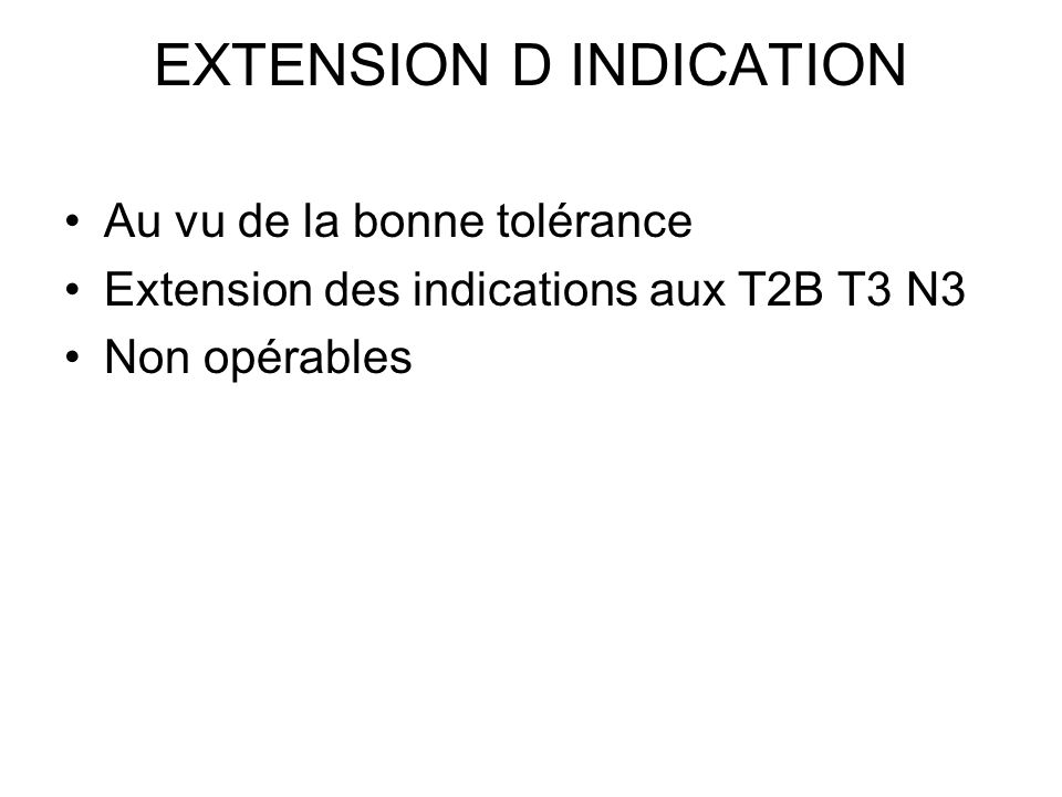 EXTENSION D INDICATION
