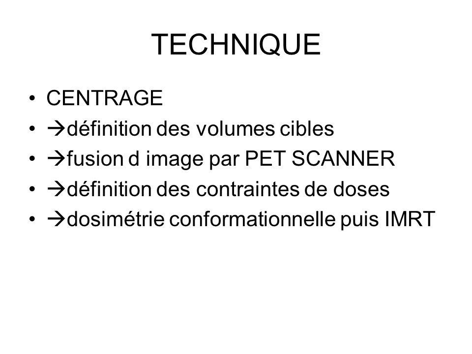 TECHNIQUE CENTRAGE définition des volumes cibles