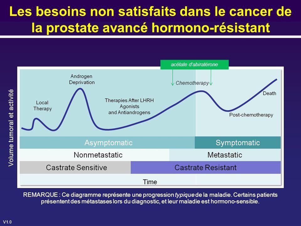 Les besoins non satisfaits dans le cancer de la prostate avancé hormono-résistant