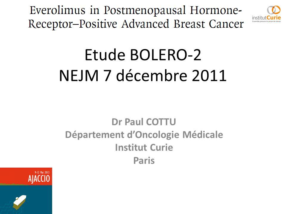 Etude BOLERO-2 NEJM 7 décembre 2011