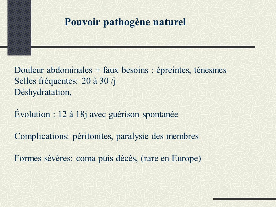 Pouvoir pathogène naturel