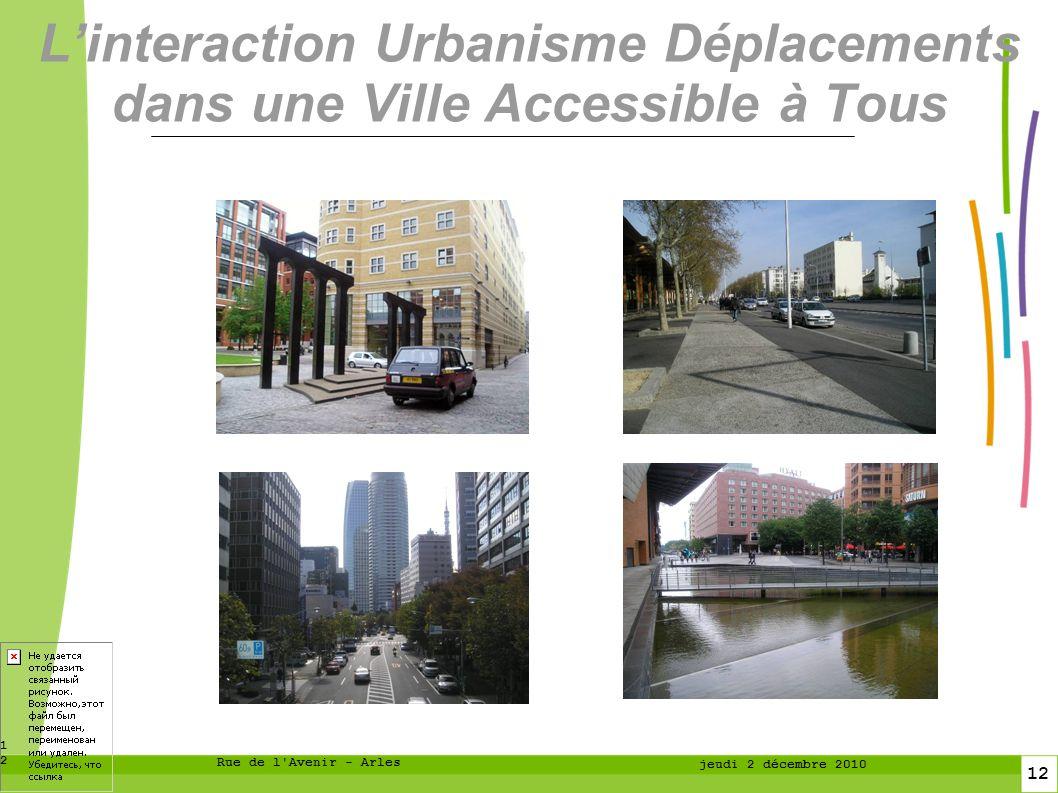 L'interaction Urbanisme Déplacements dans une Ville Accessible à Tous