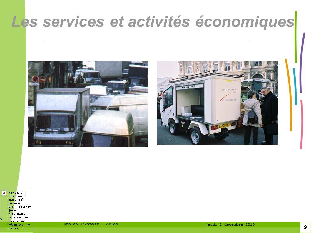 Les services et activités économiques