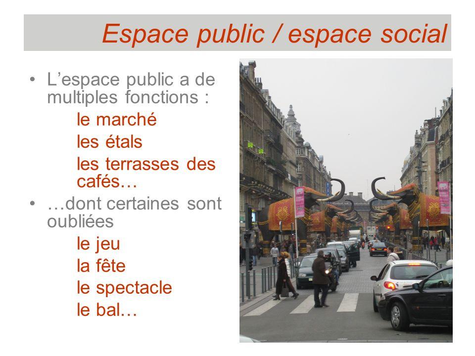 Espace public / espace social