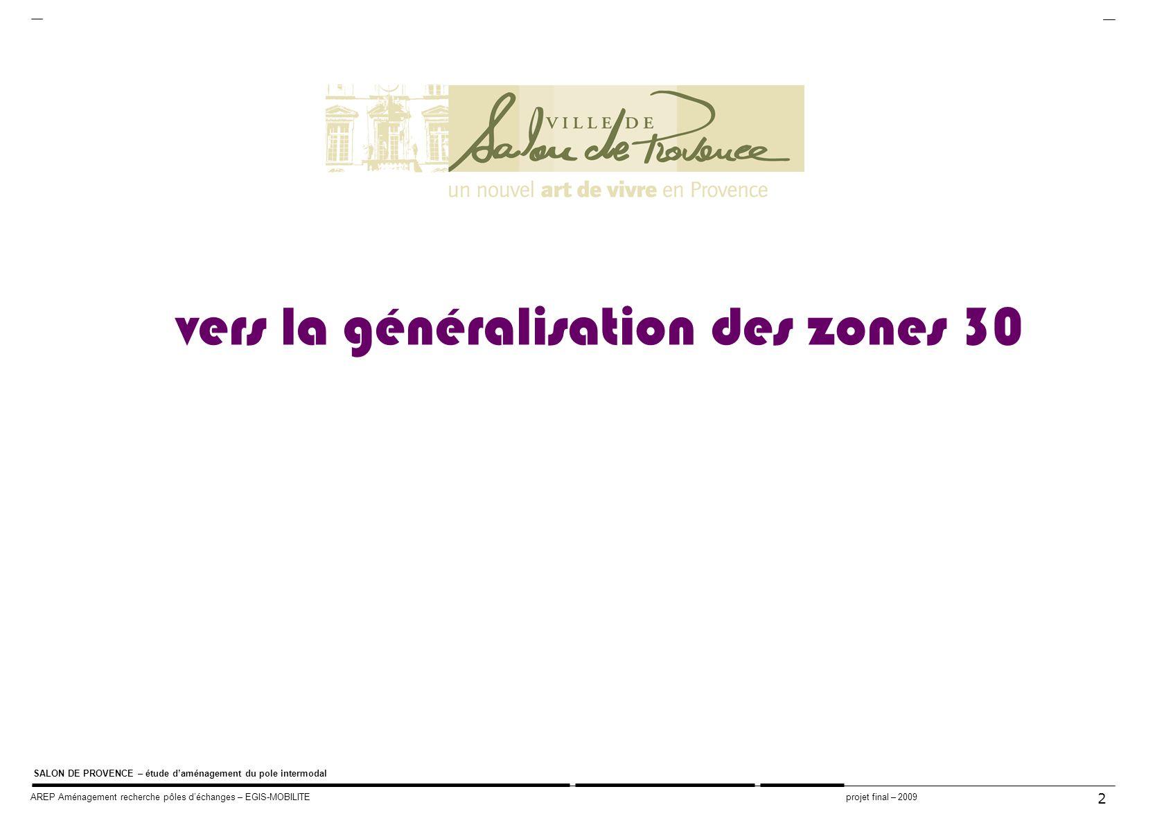 vers la généralisation des zones 30