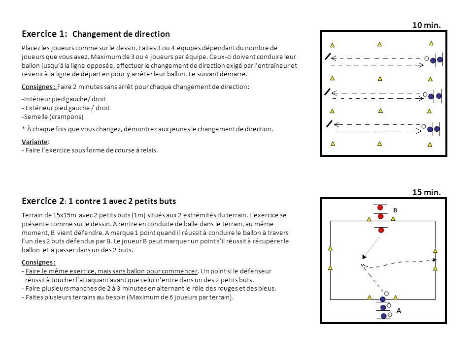 Exercice 1: Changement de direction