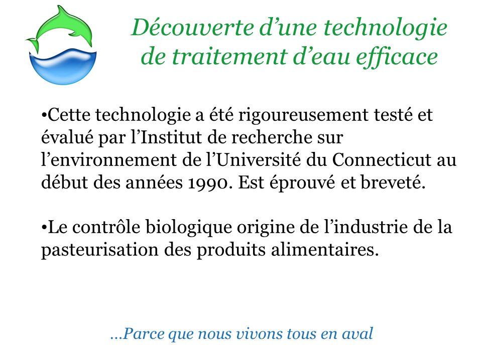 Découverte d'une technologie de traitement d'eau efficace