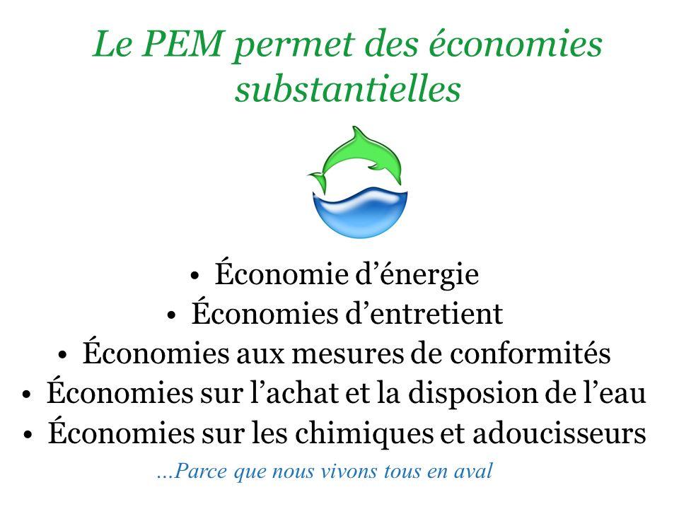Le PEM permet des économies substantielles