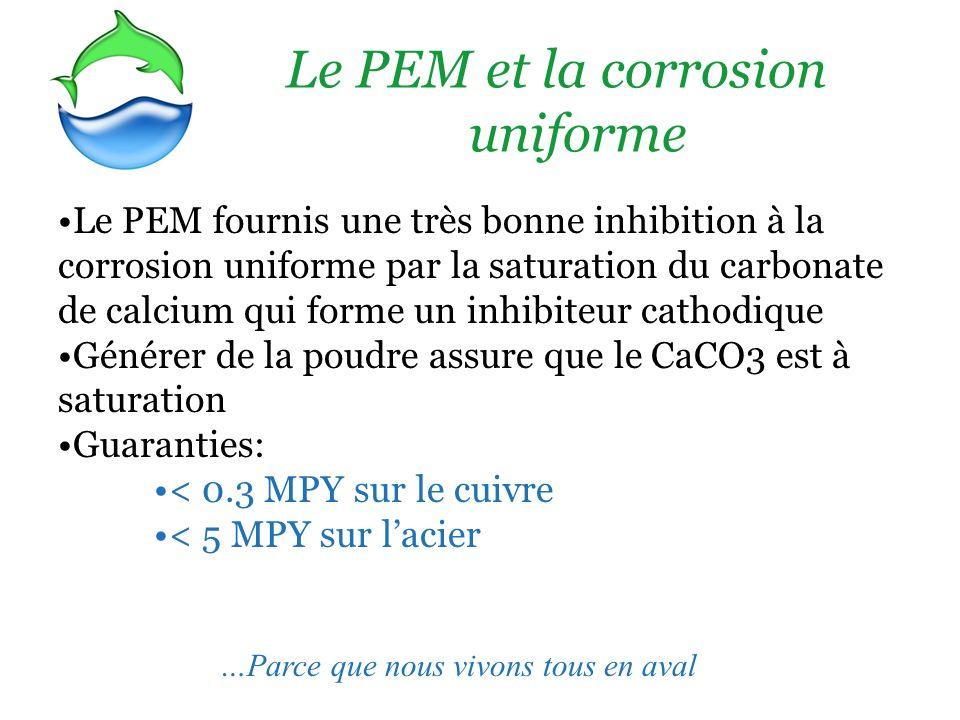 Le PEM et la corrosion uniforme