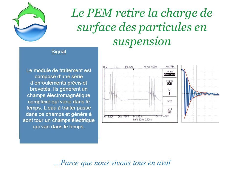 Le PEM retire la charge de surface des particules en suspension