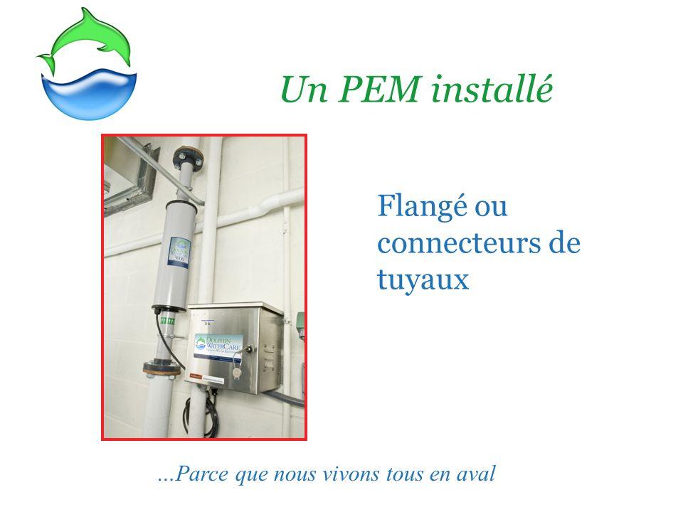 Un PEM installé Flangé ou connecteurs de tuyaux