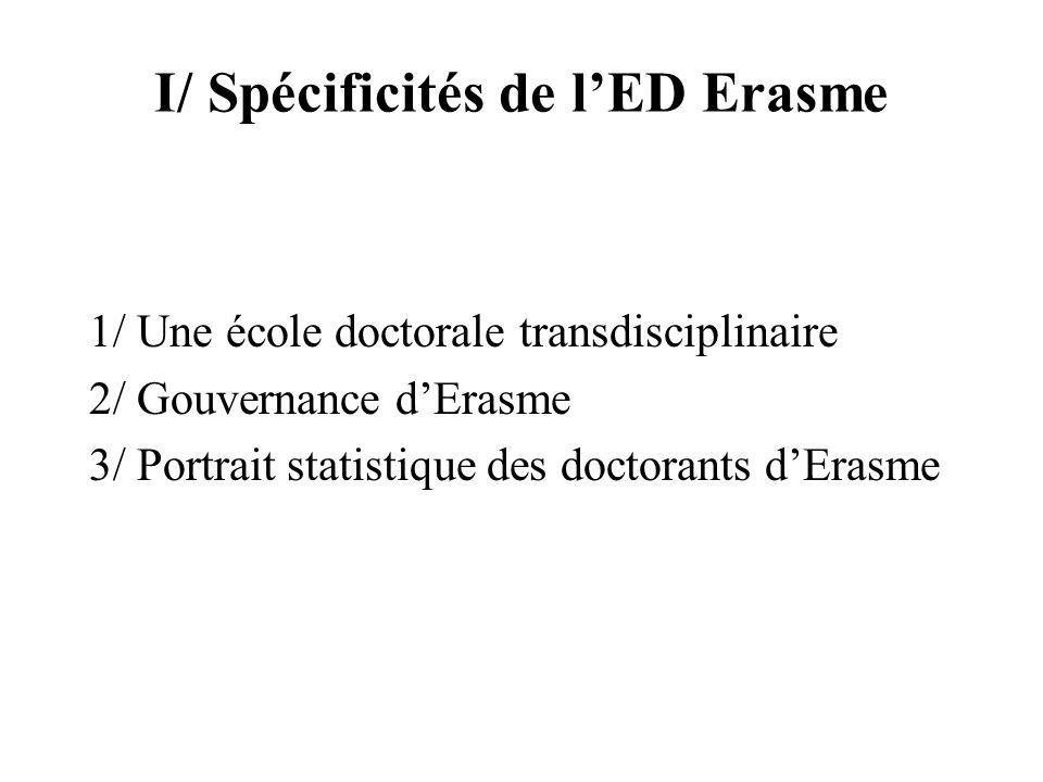 I/ Spécificités de l'ED Erasme