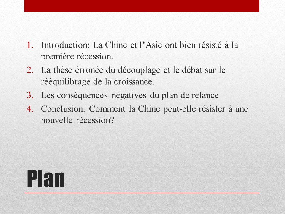 Introduction: La Chine et l'Asie ont bien résisté à la première récession.