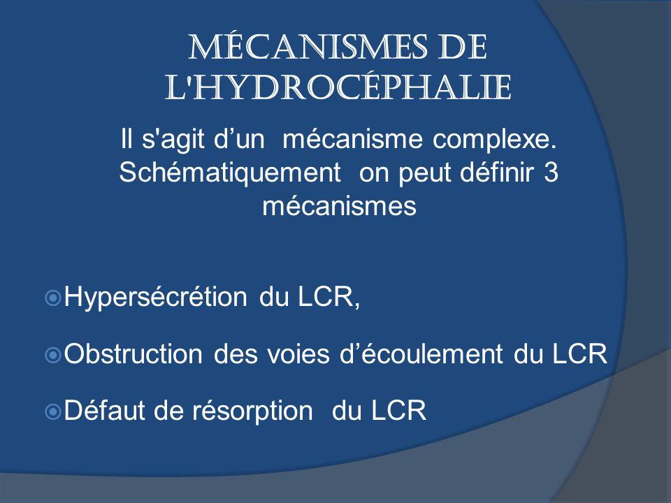 MÉCANISMES DE L HYDROCÉPHALIE