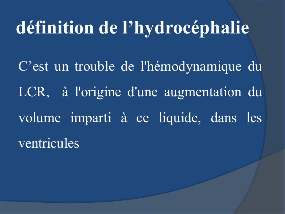 définition de l'hydrocéphalie