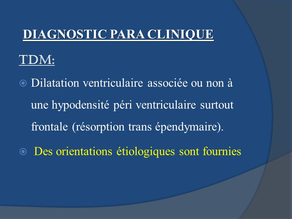 DIAGNOSTIC PARA CLINIQUE