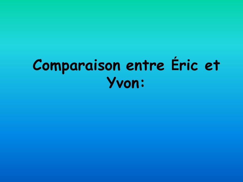 Comparaison entre Éric et Yvon: