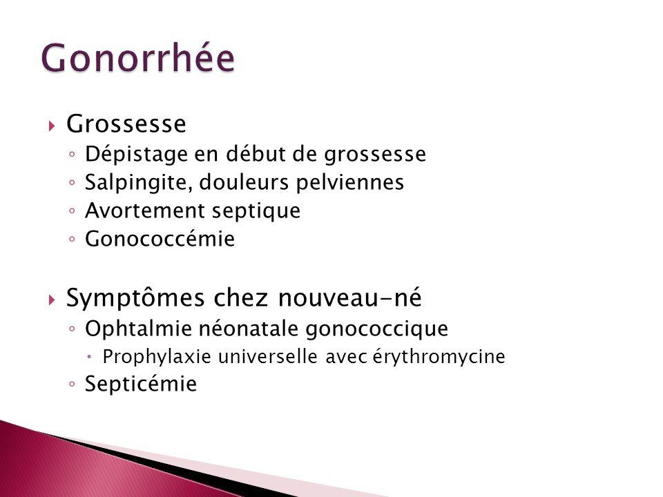 Gonorrhée Grossesse Symptômes chez nouveau-né
