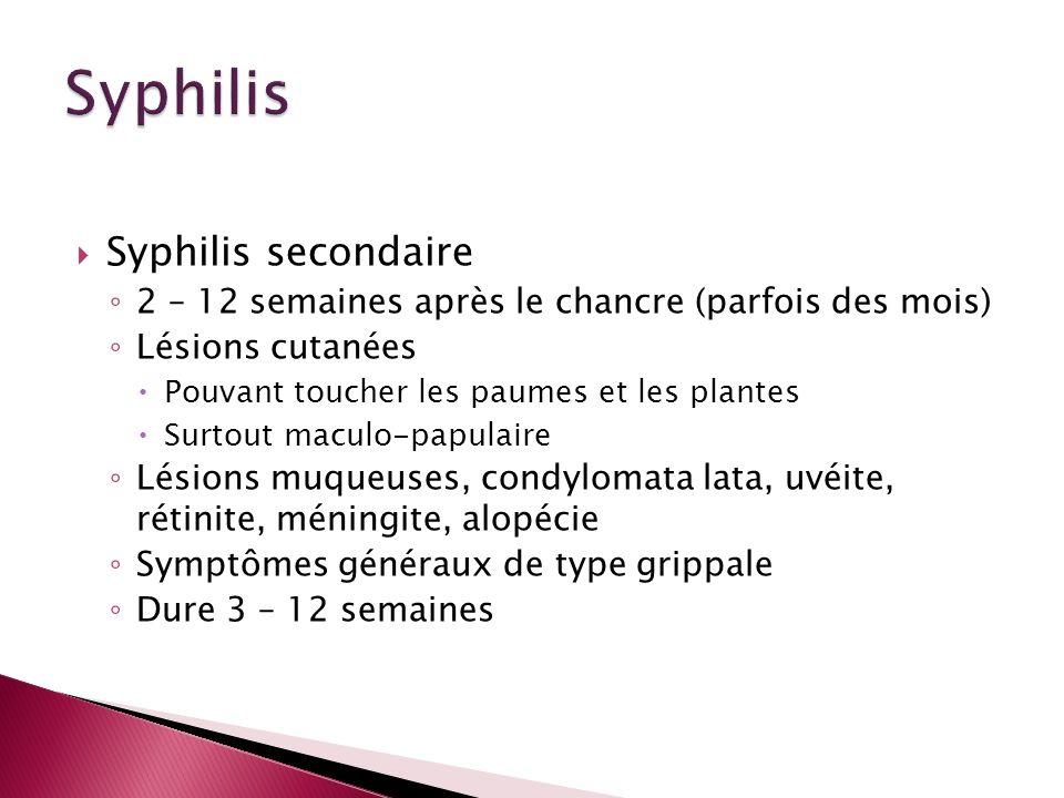 Syphilis Syphilis secondaire
