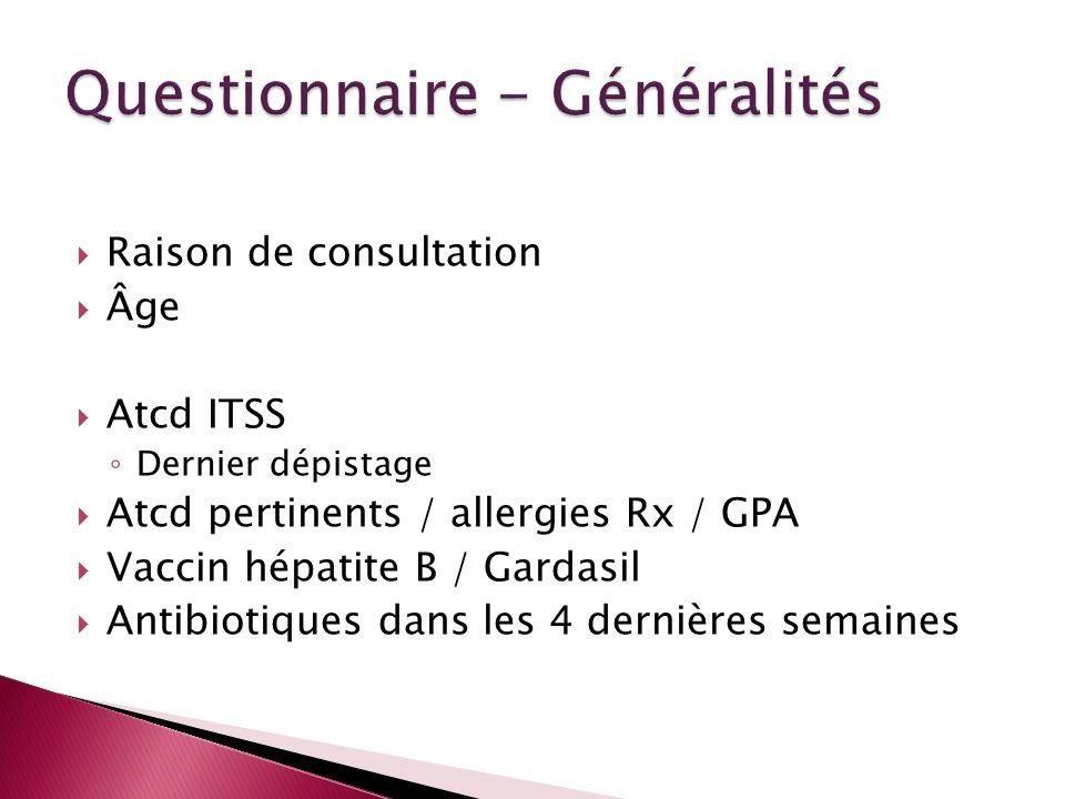 Questionnaire - Généralités