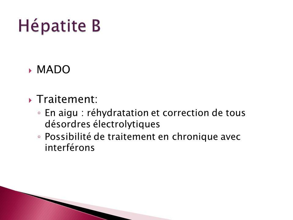 Hépatite B MADO Traitement: